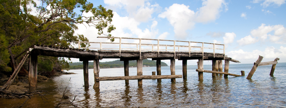 jetty on western shore of fraser island